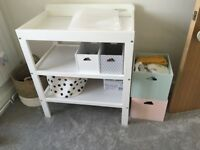 White John Lewis Baby change table