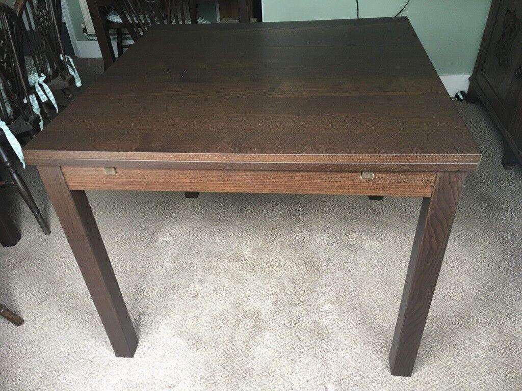 Ikea Bjursta Dining Table Dark Brown Wood Veneer