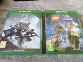Destiny 2 and Lego Jurassic World Xbox One Games