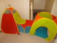 Chad Valley tents and tunnel