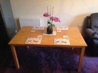 6 seater soiled oak dinning table