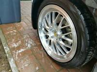 "18"" tyres deep dish alloys"