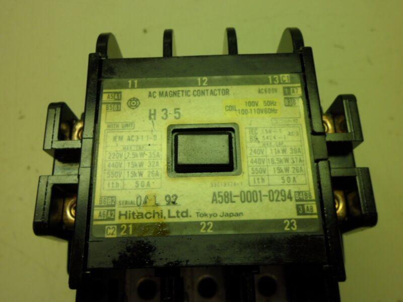 Hitachi Fanuc Motor Starter Magnetic Contactor A58L-0001-0294 AC3-1-1-0 Yaskawa