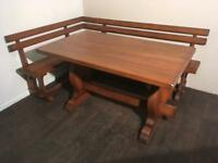 Corner bench seat and dining table. FREE DELIVERY WITHIN 10 MILES OF BELFAST.