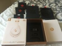 Beats Studio 3 wireless headphones - ONLY brand new box and accessories