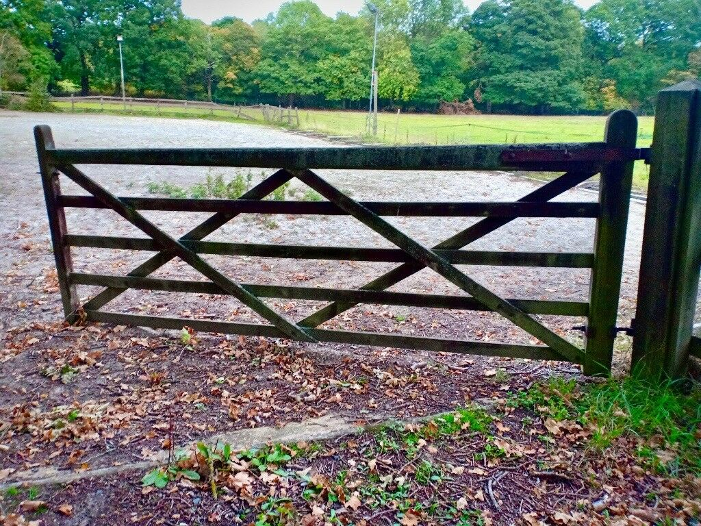 5 Bar Hardwood Field Gate 10ft X 4ft Wooden Timber Farm Equine Equestrian In Send Surrey Gumtree