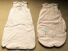 Two baby girl sleeping bags