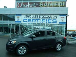 2014 Chevrolet Sonic LS + MANUELLE + AIR CLIMATISE