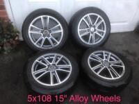 "FOX 15"" 5x108 Alloy Wheels"