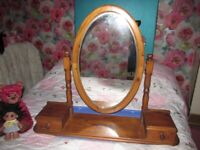 LOVELY LARGE PINE DRESSING TABLE MIRROR COLLECTION FROM CA3 9RE