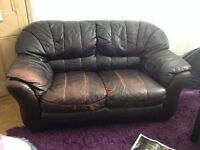 2 seater Sofa leather