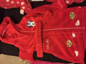 12-18 Minnie Mouse dressing gown