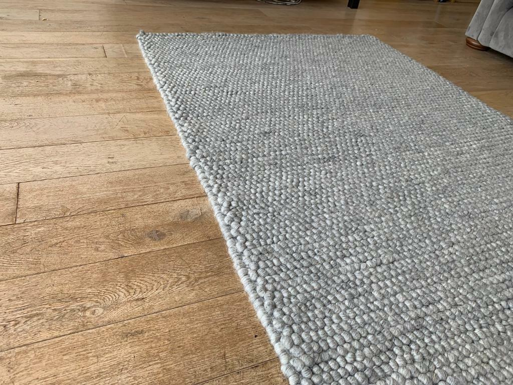 Grey Pebble Wool Rug Dunelm Mill In
