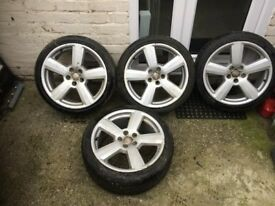 """Genuine OE RS6 alloys 18"""" in good condition with four good tyres"""