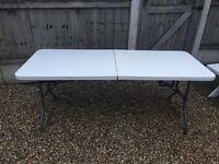 Folding outside table