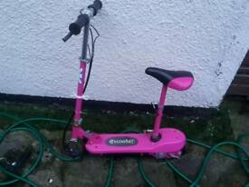Child's electric scooter.