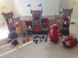 Imaginext castle, dragon and battering ram