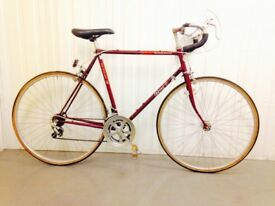 Steel Vintage Bike 10 speed Old School Classic Charm Fully Serviced ( red Bike)