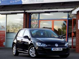 VOLKSWAGEN GOLF 1.6 TDi BLUEMOTION 5dr ** Bluetooth + DAB + Air Co (black) 2014