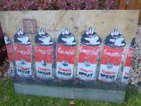 Banksy canvas Campbell's Tomato Spray