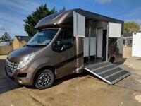 Renault 2012 horse box, built in 2017 stallion box with lots of extras