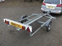 SINGLE MOTORCYCLE (ARMITAGES) TRANSPORTER CAR TRAILER FULLY GALVANISED..