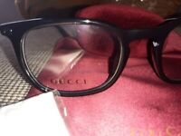 Very smart Gucci optical glasses. New. Including case etc.