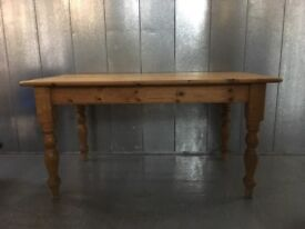 Farmhouse Dining Table. Solid Pine. Seats 8 comfortably.