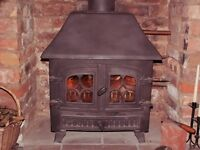 Multi-Fuel Stove - Wood and Coal Burner - with Integral Boiler