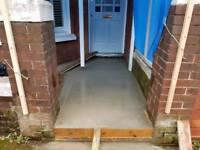 Concreting walkways and sideways