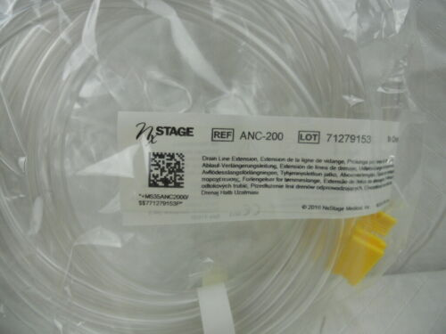 Lot of 3 - NxSTAGE - Drain Line Extensions - REF ANC-200 - Home Dialysis