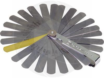 32pcs 0.04-0.88mm Blade Gap Feeler Gauge Metric Sae Dual Reading Valve Clearance