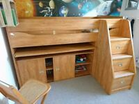 Gautier Calypso Cabin Bed - Excellent, quality bed with pull out desk, built in storage and chair
