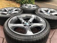 """Genuine 19"""" BMW 230 Style Alloy wheels & Tyres 3 Series E90 E92 MSport Twist"""