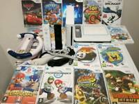 Nintendo Wii with UDraw game tablet 15 Games and accessories