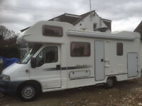 Autocruise Starblazer 6 berth motorhome, low mileage, reliable, well equipped and very comfortable