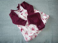 Fully Lined Dress with Bolero and Bow Leggings 3 - 6 Months