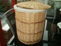 Wicker type laundry basket