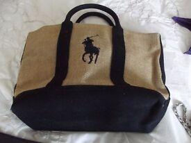 Genuine designer Hessian bag Ralph Lauren