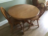 Solid pine table and chairs