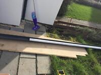 Free white downpipe and anthracite guttering - unused