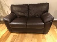 Brown leather sofa, excellent condition