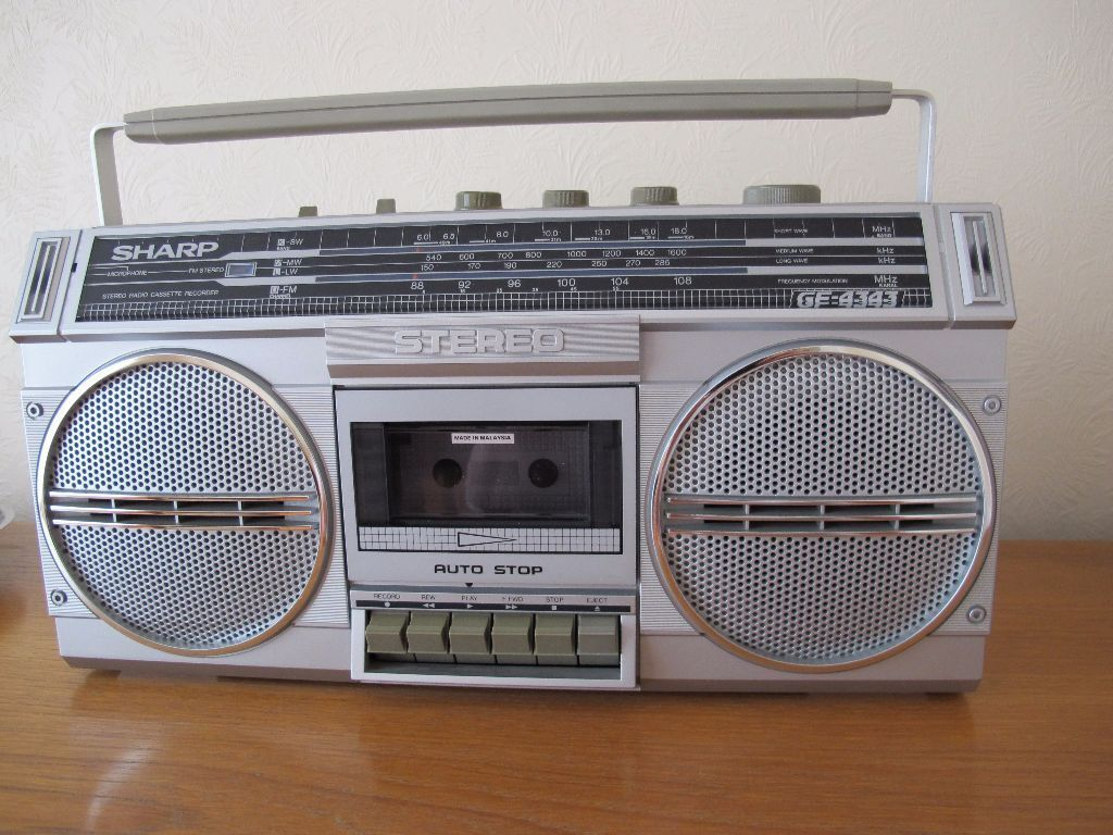 sharp stereo radio cassette recorder gf4343 good condition. Black Bedroom Furniture Sets. Home Design Ideas