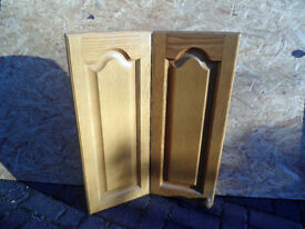 Oak Wall Corner Unit Doors