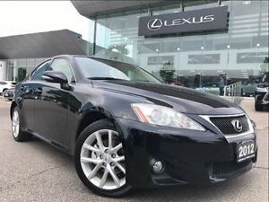 2012 Lexus IS 250 Leather Moonroof and Navigation Pkg AWD Backup