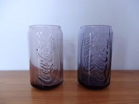 Coca Cola Can Shaped Glass Cups, Purple and pink - Mcdonalds