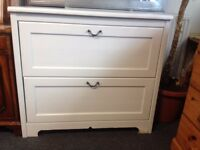 Vintage Refurbished White Chest of Drawers- CHARITY