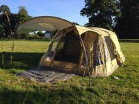 Vango Airbeam Lumen 500 Tent, groundsheet, carpet, double airbed, single ring camping stove
