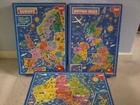3 PICTURE MAP JIGSAW PUZZES