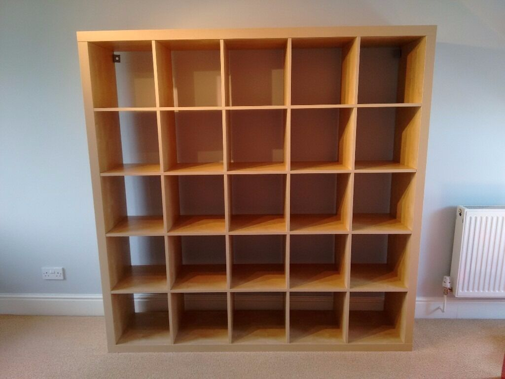 ikea expedit kallax 5x5 shelving unit birch effect in southport merseyside gumtree. Black Bedroom Furniture Sets. Home Design Ideas